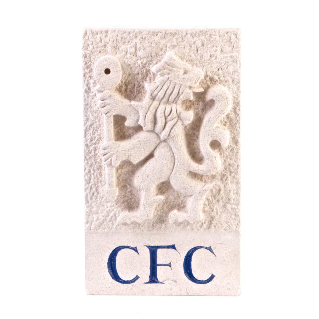 Chelsea badge - carved in Bath stone