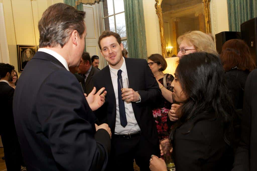 Meeting Rt Hon David Cameron PM following an invitation to Downing Street in response to my work with the National Trust.