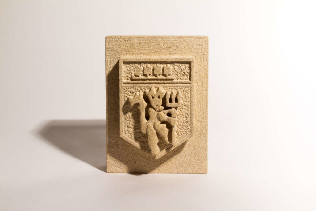 Manchester United badge - - carved in Bath stone